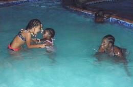 Kids having fun in the pool