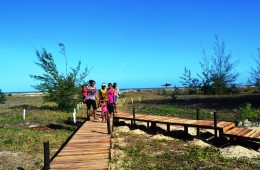 family by beach pathway -facebook and gallery
