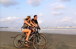 cycling on the beach_